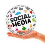 social media ball in hand